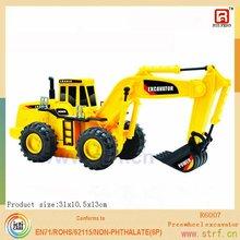 2012 new yellow plastic toy slide Excavator