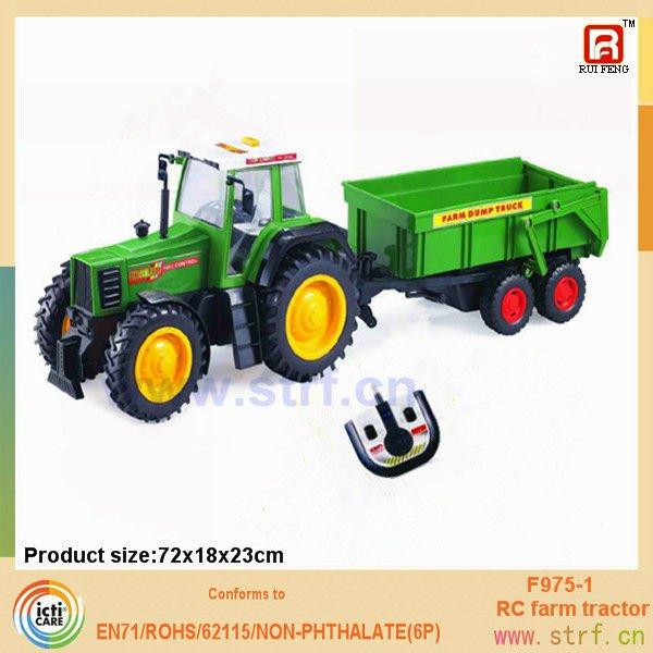 control remoto inalámbrico de tractores de descarga de juguete