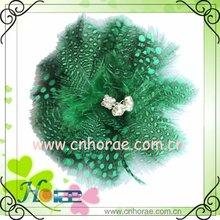 fashion feather ornament with rhinestone