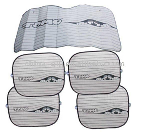 5 pcs conjunto de proteção solar de vidro auto pára-sol do pára-brisa do carro da tela de sol