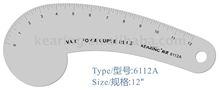 """Kearing, 12"""" de alumínio régua curva francesa de costura, #6112a"""