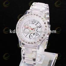 Transparent Neon Color Light Plastic Watch KC Diamonds
