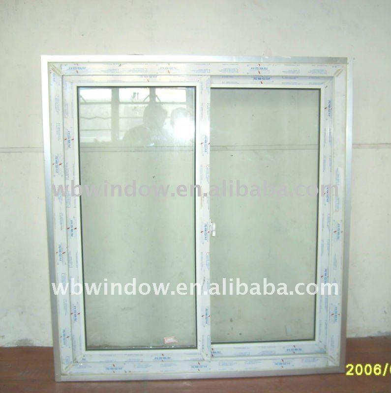 pvc silding window window molding design two panels pvc