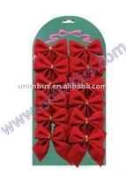 small red crafts velvet ribbon christmas bow,xmas holiday decoration