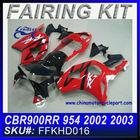 fairing kit cbr 954 for CBR900RR 954 02-03 RED&BLACK FFKHD016