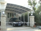 White aluminum polycarbonate canopy for car