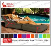 2012 fashion bean bag polyester outdoor fabric folding beach outdoor chair