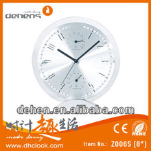 Unique aluminum table clock for home decor