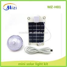 Mini USB portable solar mobile phone charger for ,mobilephone,camera ,led bulb