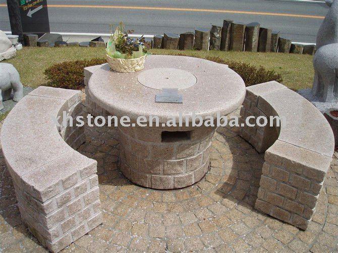 Mob lia ao ar livre m o de granito esculpida jardim for Bancos de granito para jardin