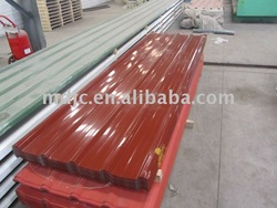 Colored steel roof tile