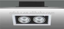 high-end indoor commercial lighting,MR16-led 2*3W Recessed grille Spotlighting