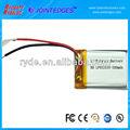 Li polímero 052535 380 mAh 3.7 V batería