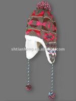 winter polar fleece knit cap