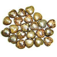 Hot sale semi precious stone bronzite puffy heart