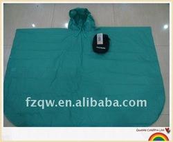 210D nylon pu coating adult poncho rain clothing
