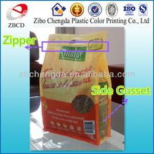 Eight side sealing zipper dog food packaging pet food bags