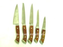 stainless steel chef cake fruit knife with wooden handle and various designs