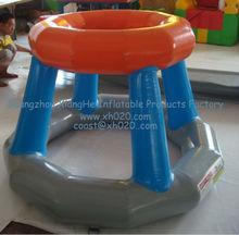 lastest design hot sale commercial grade pvc tarpaulin WG-01 inflatable water basketball hoop