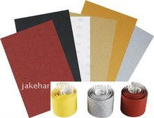 waterproof electro coated silicon carbide abrasive paper sheet and roll
