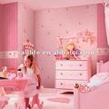 Decorativo não tecido papel de parede com pvc para quarto de crianças
