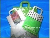 LDPE or HDPE soft-loop handle carrier bags/Flexiloop plastic carrier bags