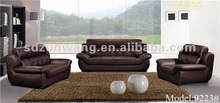 Hot design italian style top grain leather furniture sofa price 9223