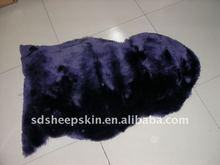 Sheepskin Rugs Purple Color Low Wool