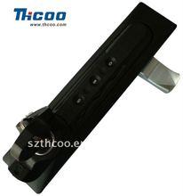 Cabinet panel handle combination lock