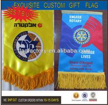 2014 Hot Sell Satin Exquisite Custom Flag Gift
