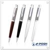 Elastic clip metal pen set with pattern imprint