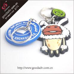 promotional gifts pvc keychain Custom 3d logo rubber pvc keychain