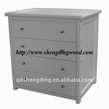 Deluxe chest of drawers on metal runners