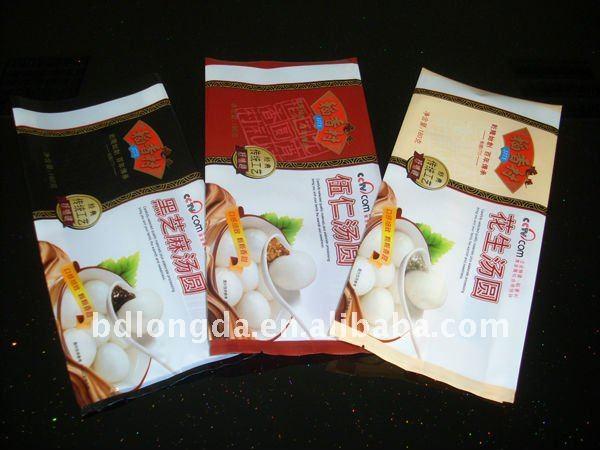 Food custom printed resealable plastic bags