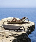2014 Hot sale customized coffee color PE leaf sun lounger