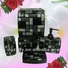 Hot!!!Resin blocks multi black bathroom sets