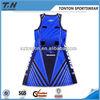 Custom design sublimated lycra netball dress