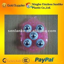 Plastic pvc material 360 degrees ball massager