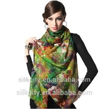 Factory Free Samples 100% Silk Wool cotton linen Shawl