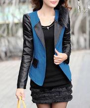 fashion women coat leather clothing for women autumn coat 2014