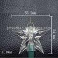 10L UL 120 V 55.5 mm estrella de la navidad blanca LED exterior de la estrella del cable verde