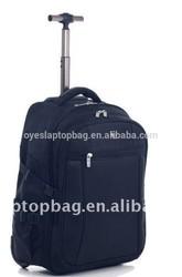 nylon good quality 15.6inch kids school trolley backpack