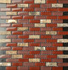 Foshan Mosaic USA Hot Selling Staggered Crystal Glass Mosaic Wall Tile for Interior Wall F
