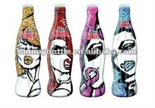bowling shape wine bottle, beverage glass bottle
