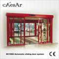 de aluminio o marco de acero de la puerta corredera automática