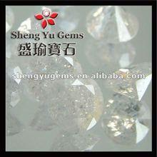 Clear White Round Cracked CZ Snowflake Gemstones/Round Crystal Quarzts Cracked Cubic Zirconia Gemstones In Bulk