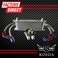13 Rows Engine Transmission Oil Cooler Kit