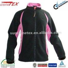 2012 New style black match pink color Ladies polar fleece Jaket