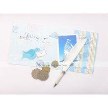 BP-10B Fancy mini feather pen for envelope size