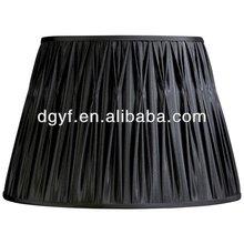 Eggshell silk fabric lamp shade with swirl pleat shade,pleated lampshade,high quality lampshade